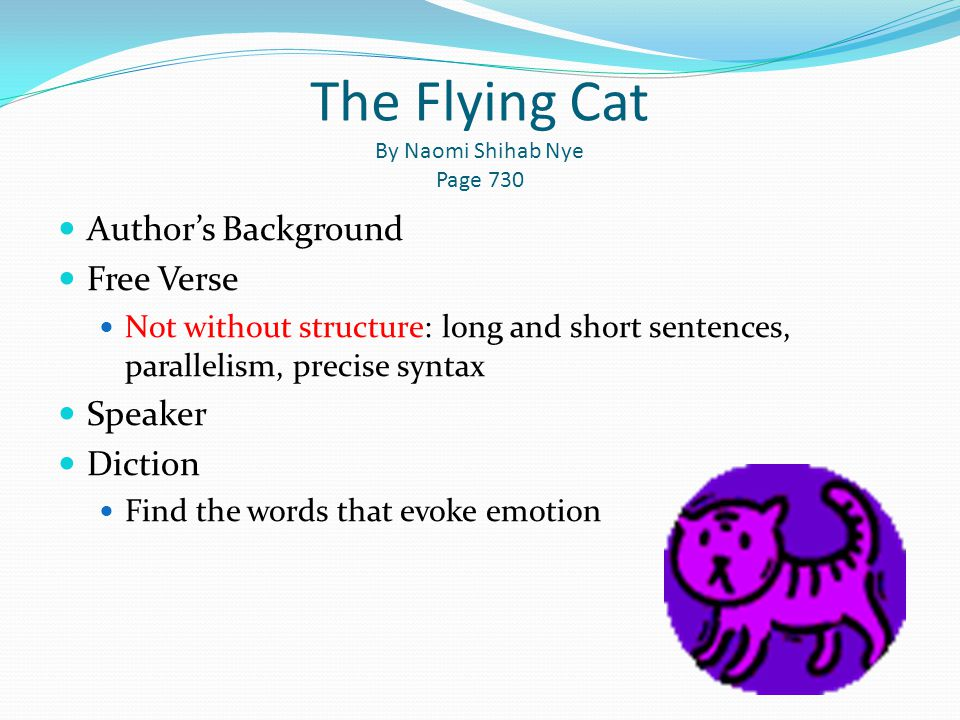 The Flying Cat By Naomi Shihab Nye Page 730