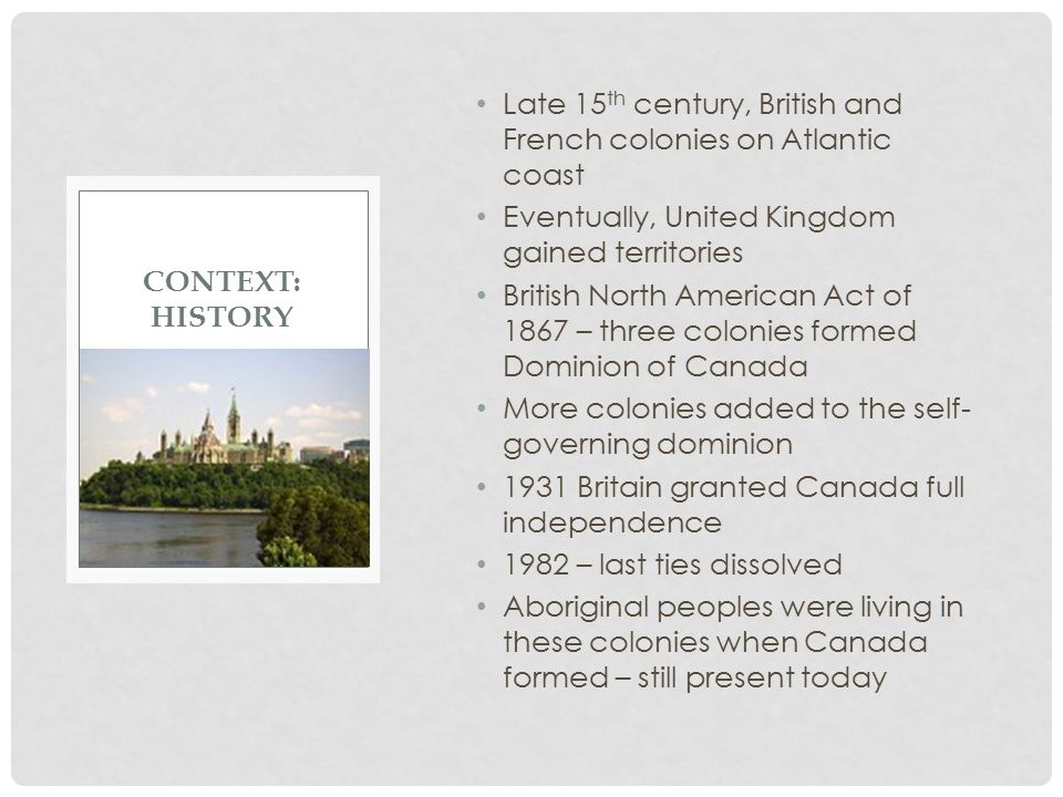 Late 15th century, British and French colonies on Atlantic coast