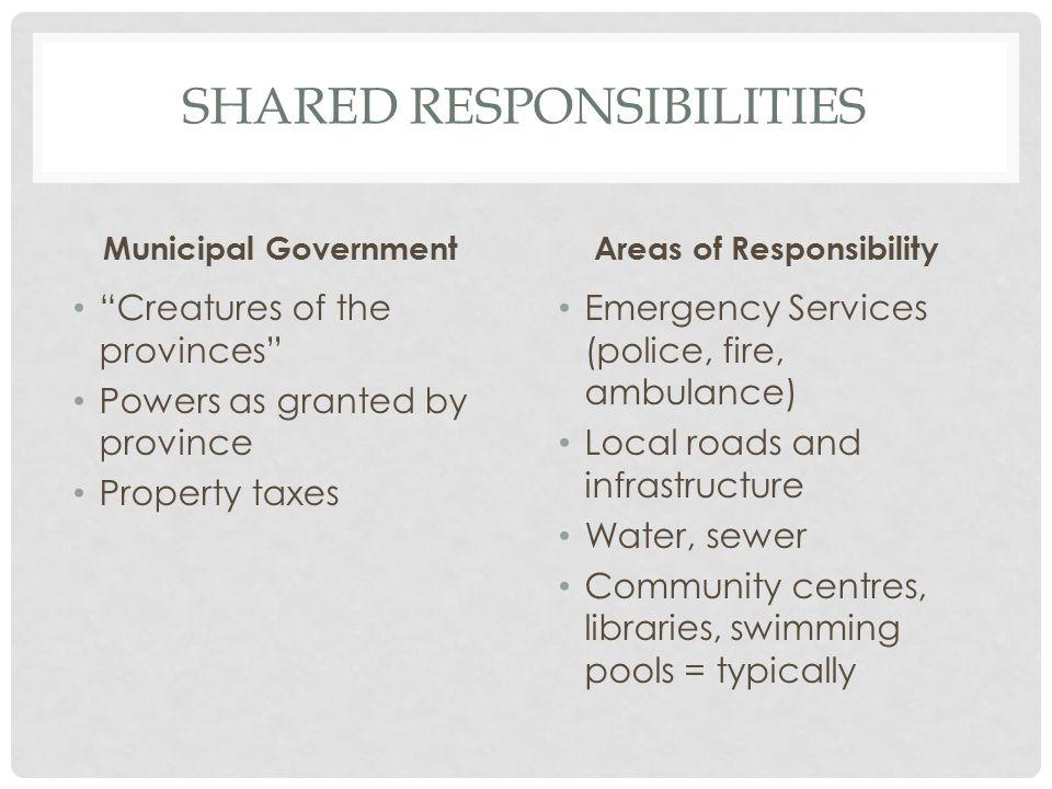Shared responsibilities