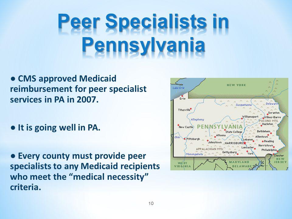 Peer Specialists in Pennsylvania