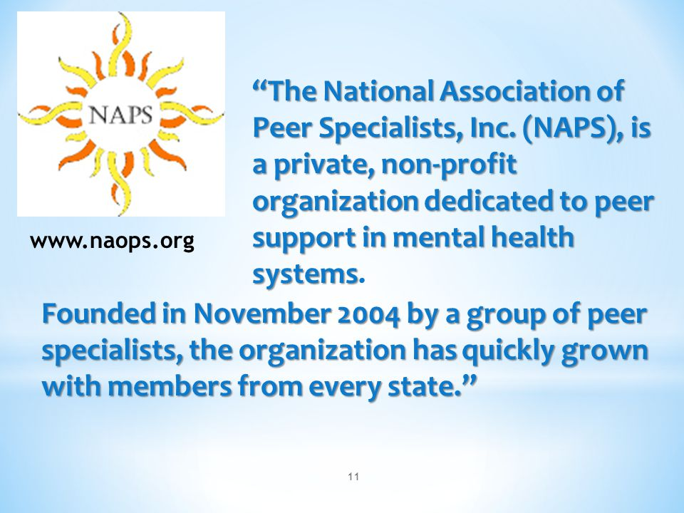 The National Association of Peer Specialists, Inc