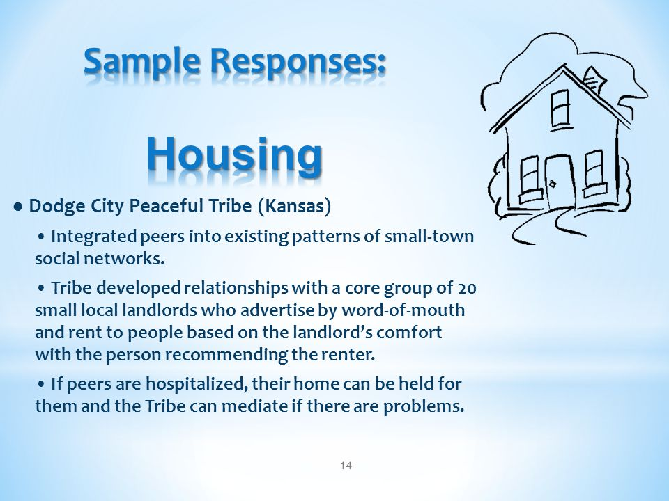 Sample Responses: Housing