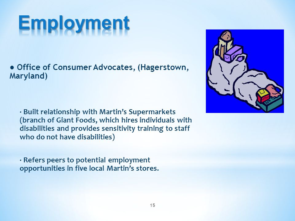 Employment ● Office of Consumer Advocates, (Hagerstown, Maryland)