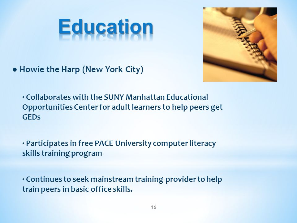 Education ● Howie the Harp (New York City)