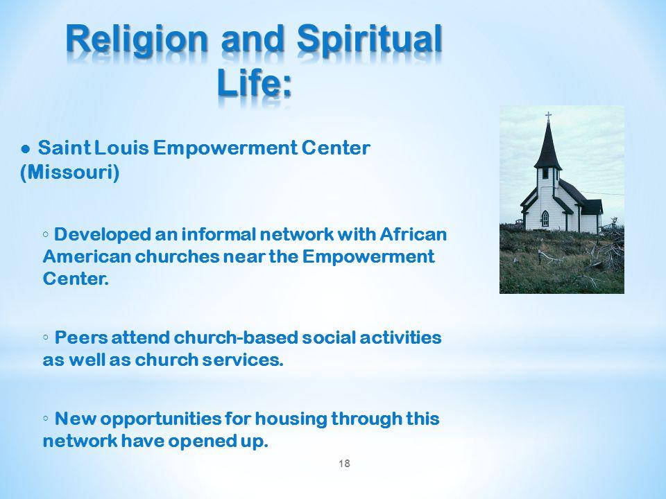 Religion and Spiritual Life: