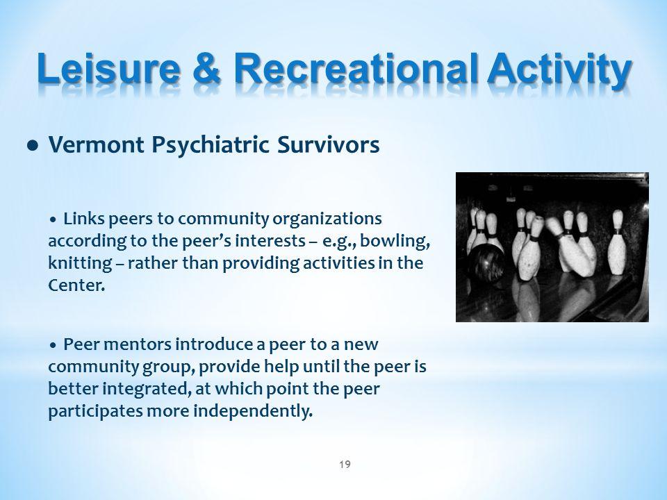Leisure & Recreational Activity
