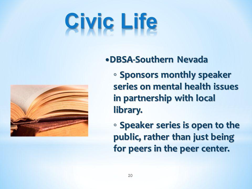 Civic Life •DBSA-Southern Nevada