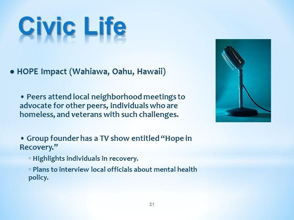 Civic Life ● HOPE Impact (Wahiawa, Oahu, Hawaii)