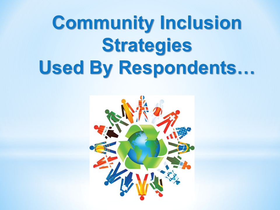 Community Inclusion Strategies Used By Respondents…