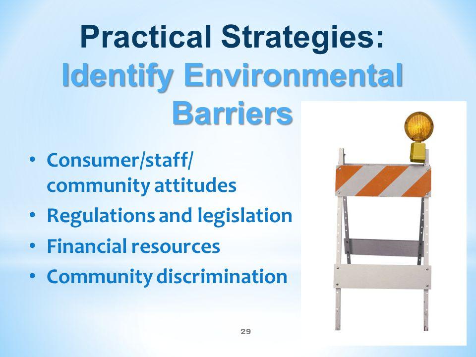 Practical Strategies: Identify Environmental Barriers