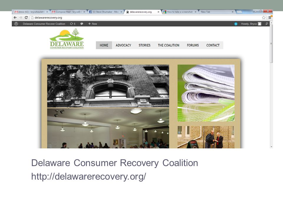 Delaware Consumer Recovery Coalition http://delawarerecovery.org/