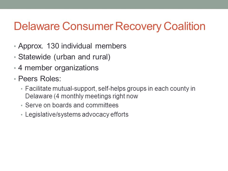 Delaware Consumer Recovery Coalition