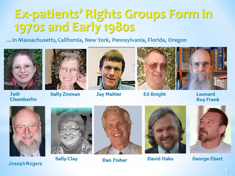 Ex-patients' Rights Groups Form in 1970s and Early 1980s