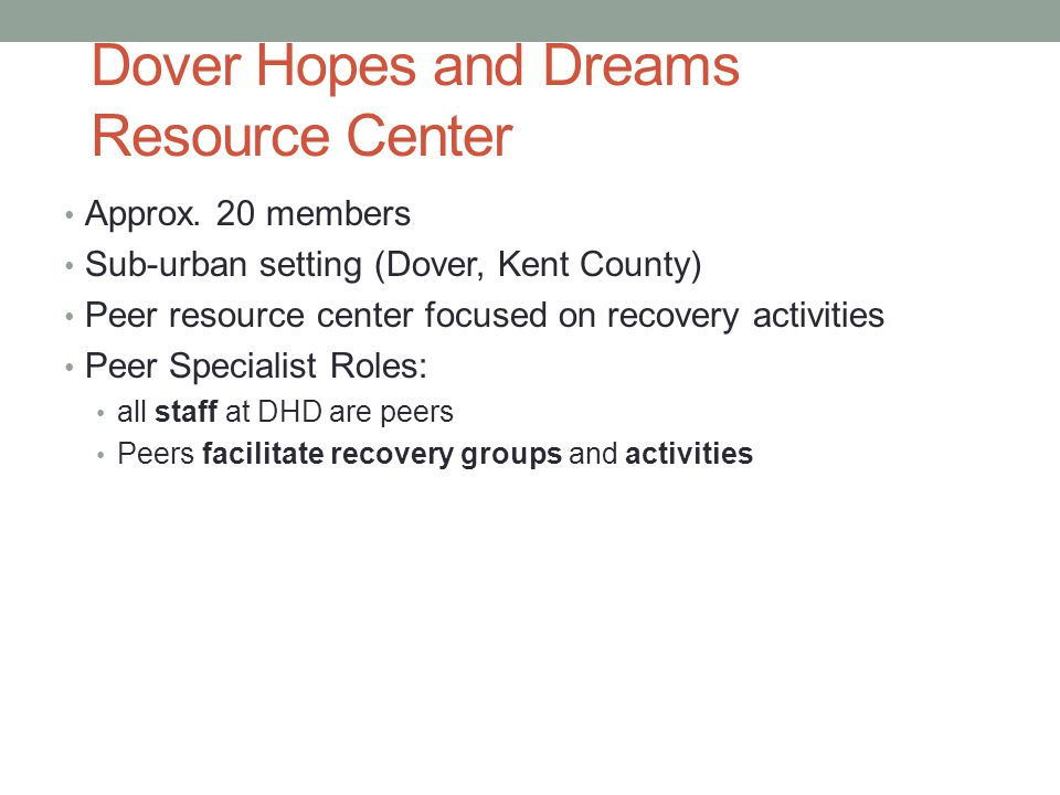 Dover Hopes and Dreams Resource Center