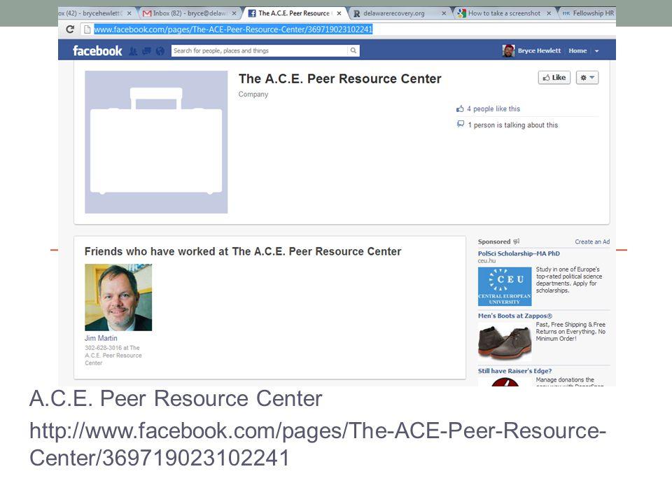 A.C.E. Peer Resource Center