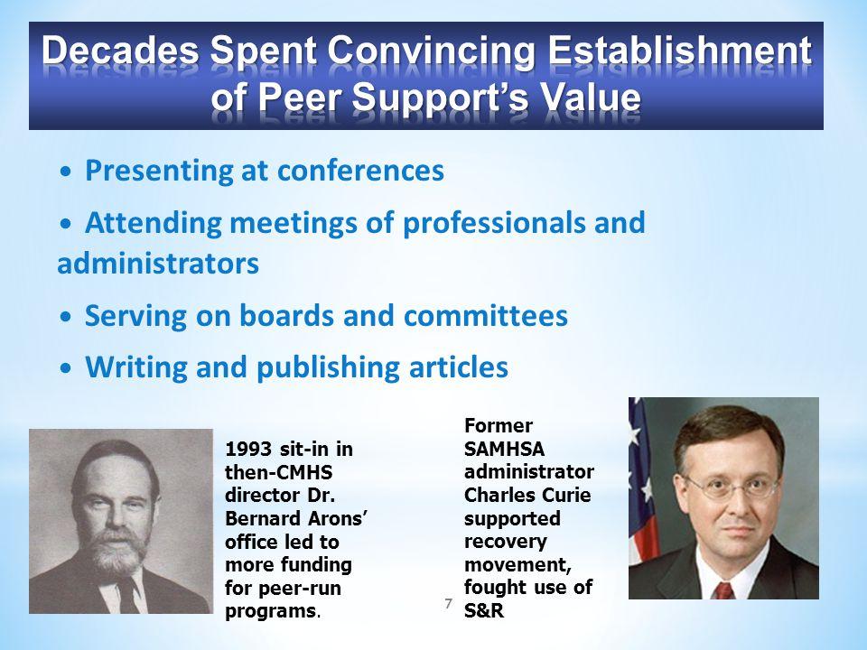Decades Spent Convincing Establishment of Peer Support's Value