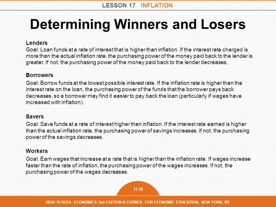 Determining Winners and Losers