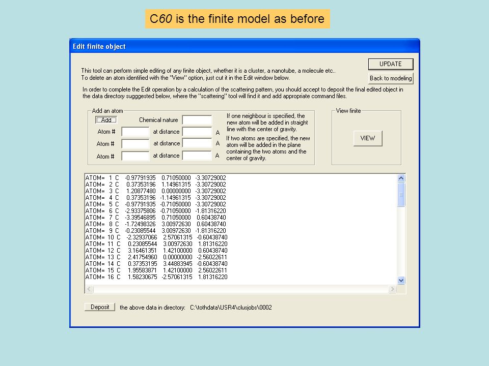 C60 is the finite model as before