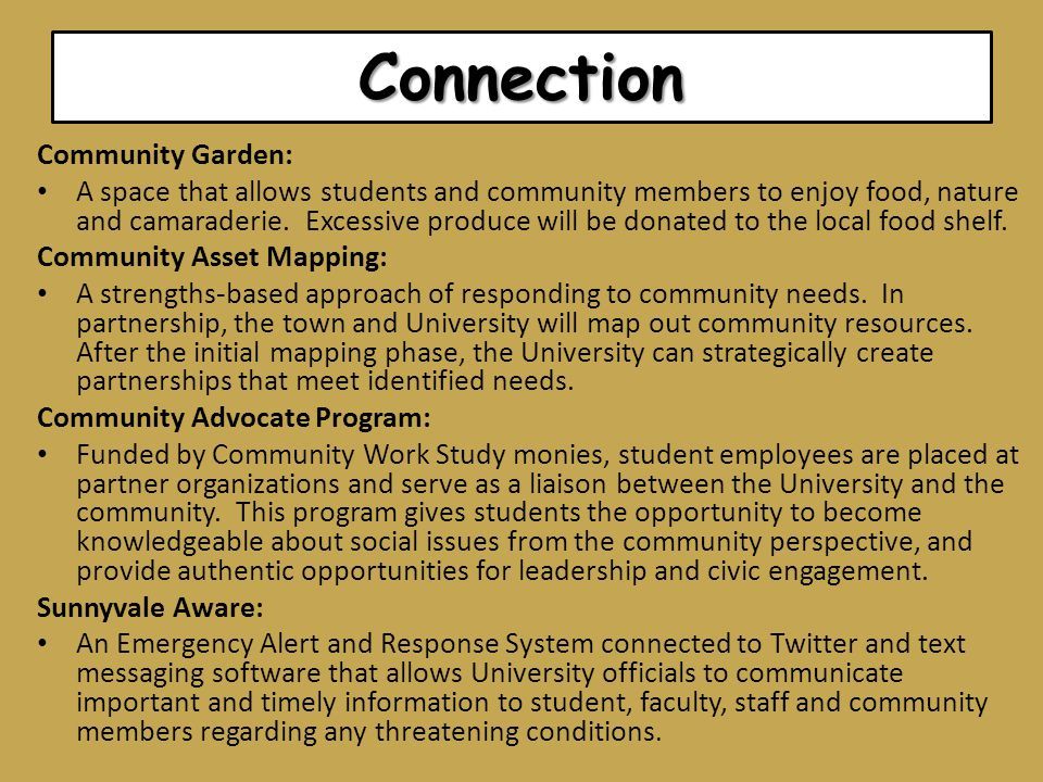 Connection Community Garden: