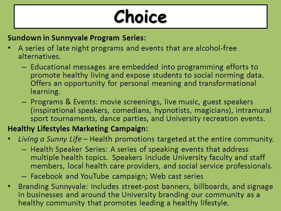 Choice Sundown in Sunnyvale Program Series: