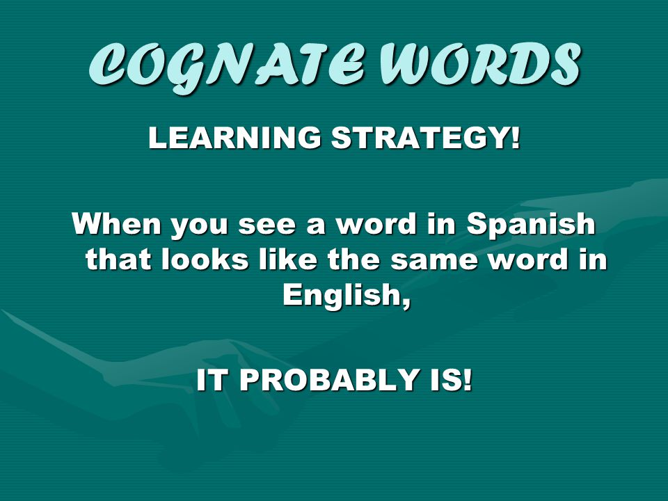 COGNATE WORDS LEARNING STRATEGY!