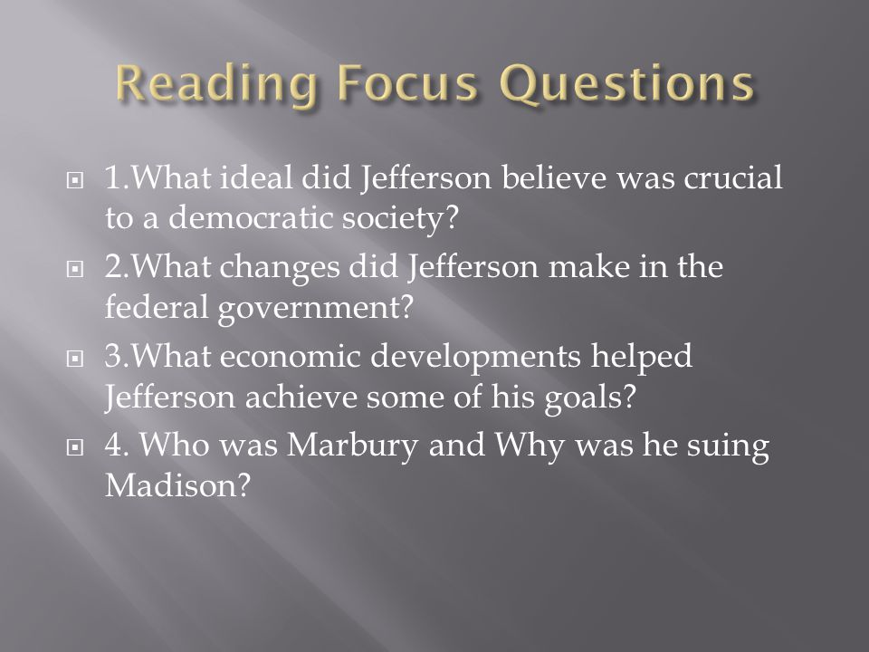 Reading Focus Questions