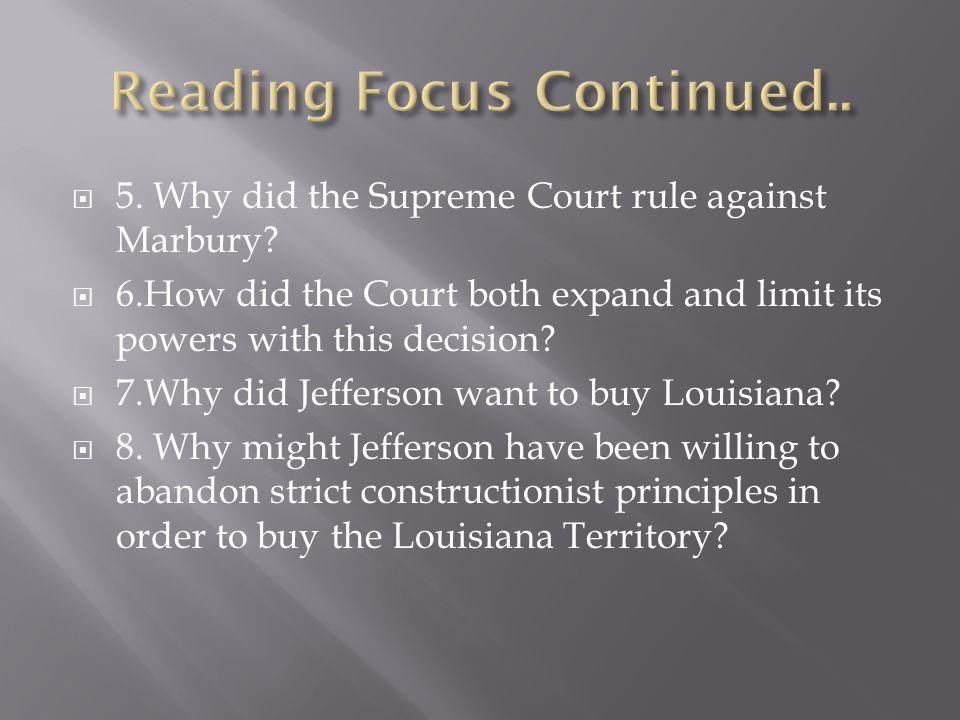 Reading Focus Continued..