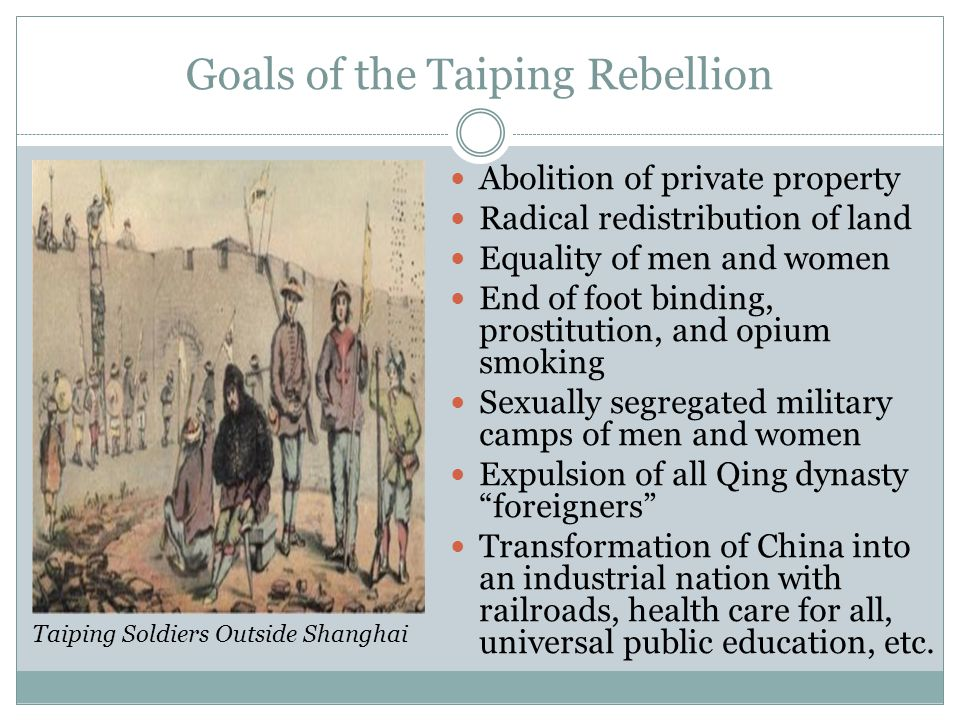 Goals of the Taiping Rebellion