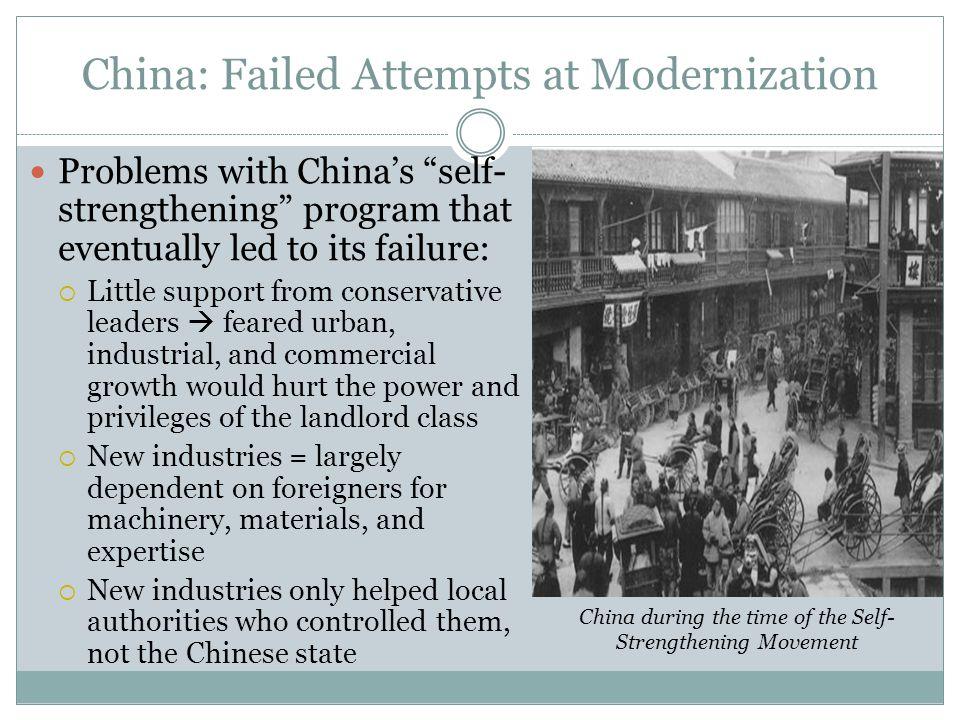 China: Failed Attempts at Modernization