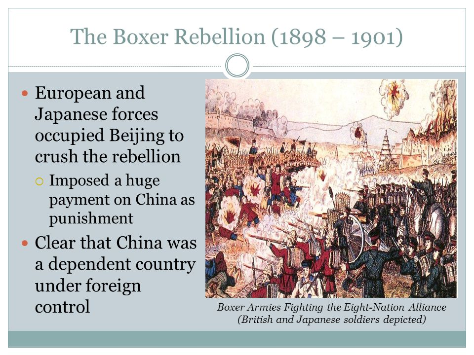 The Boxer Rebellion (1898 – 1901)