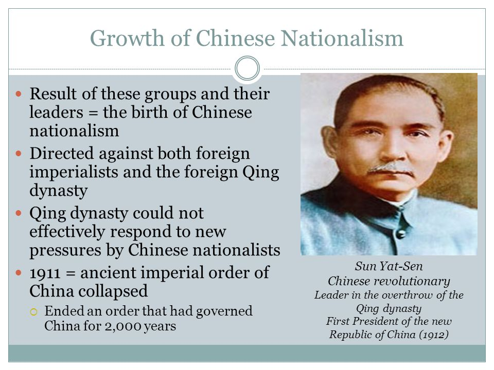Growth of Chinese Nationalism