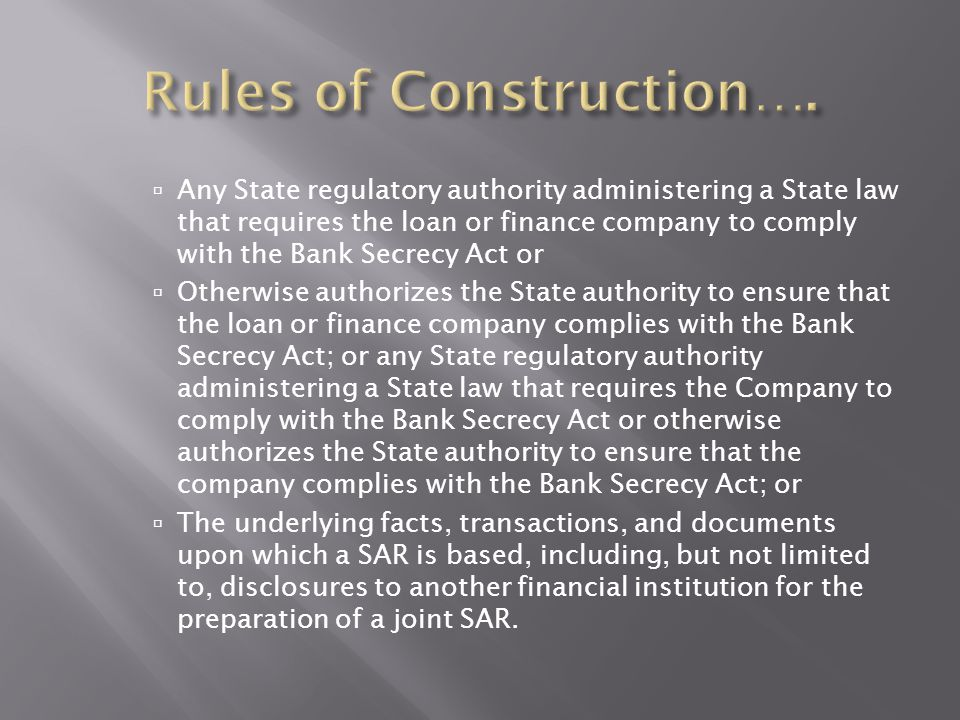 Rules of Construction….