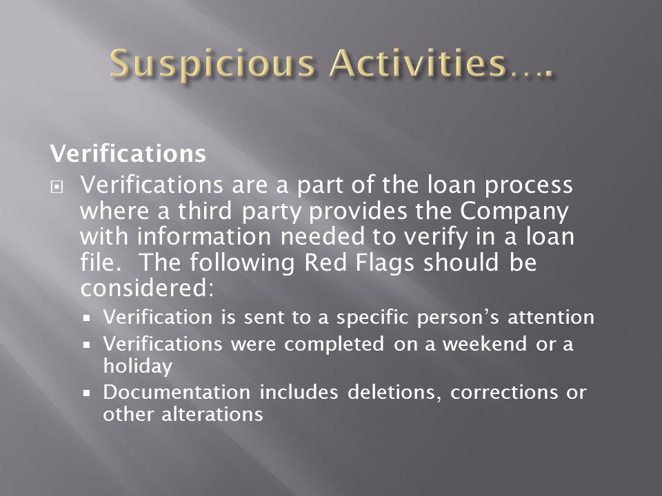 Suspicious Activities….