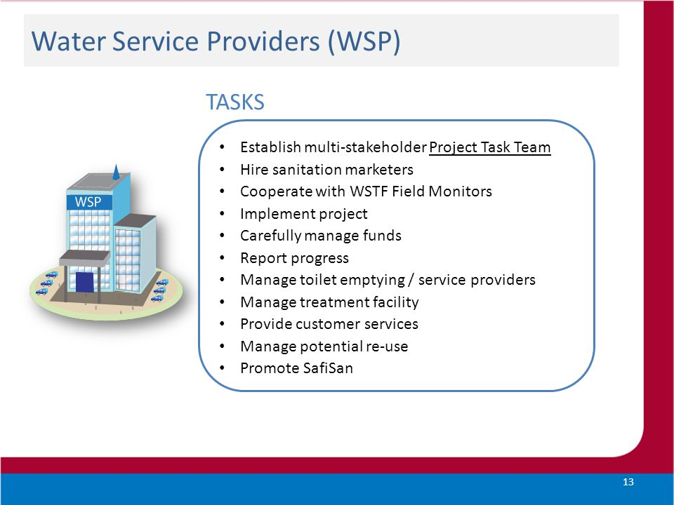 Water Service Providers (WSP)