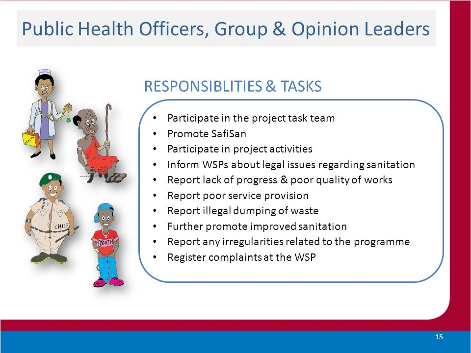 Public Health Officers, Group & Opinion Leaders