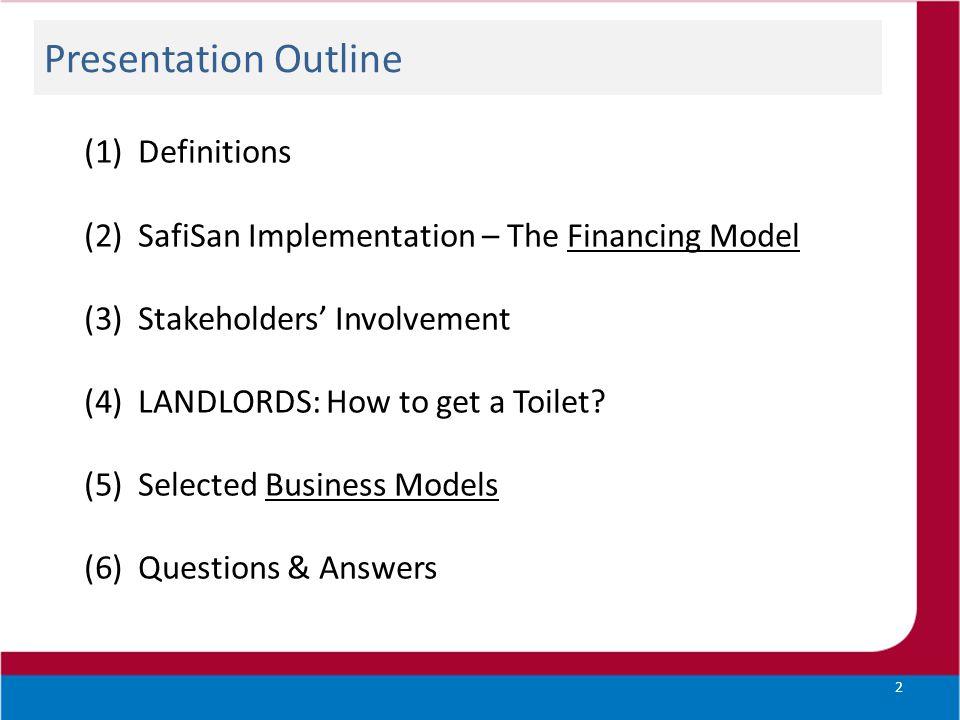 Presentation Outline Definitions