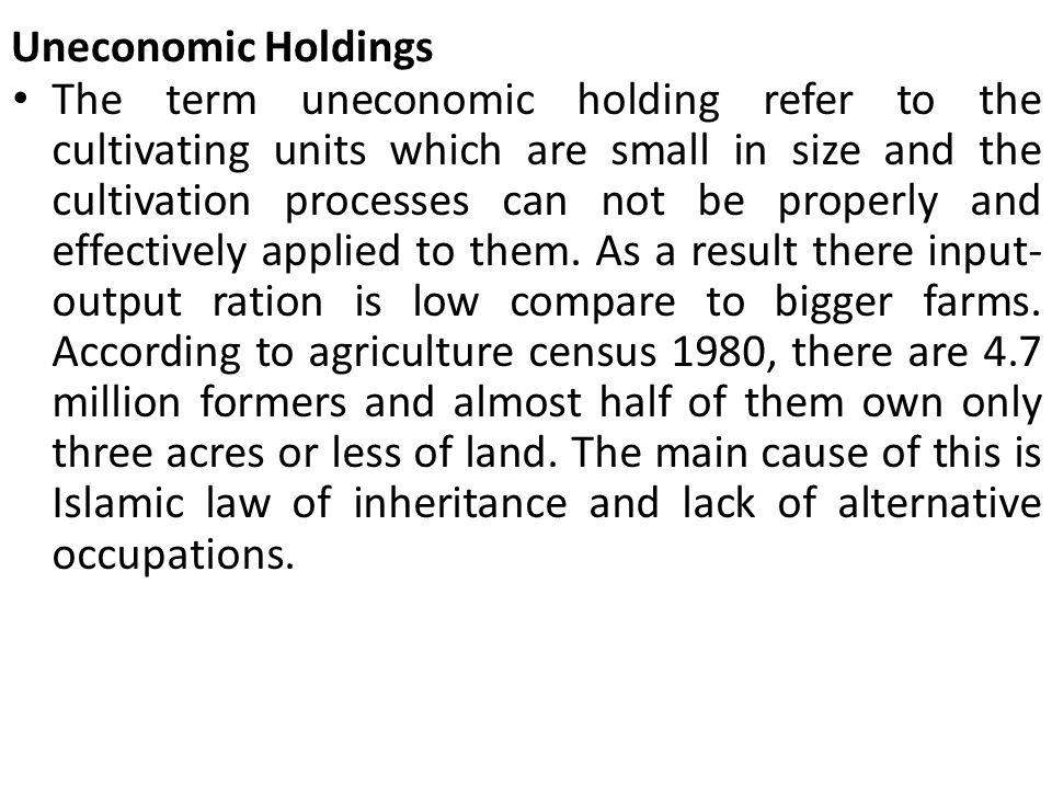 Uneconomic Holdings