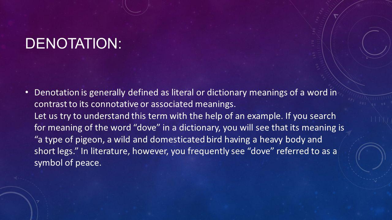 Denotation: