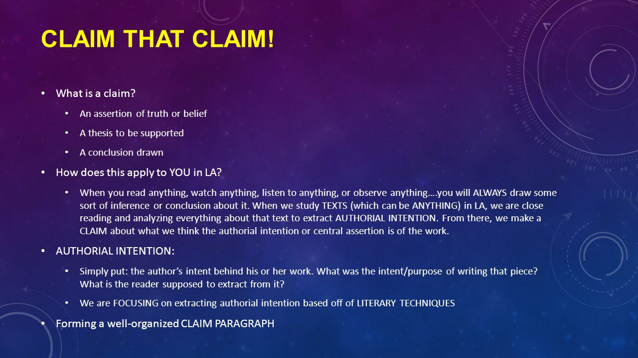 Claim that claim! What is a claim How does this apply to YOU in LA