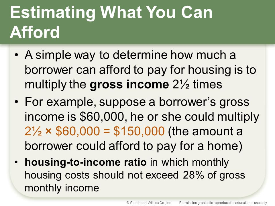 Estimating What You Can Afford