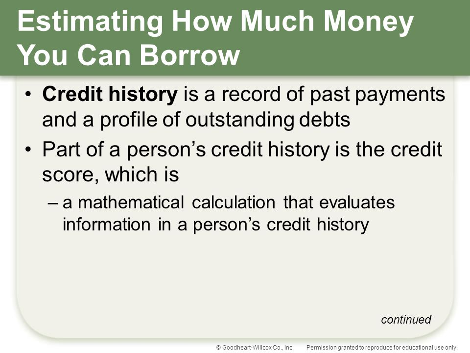 Estimating How Much Money You Can Borrow