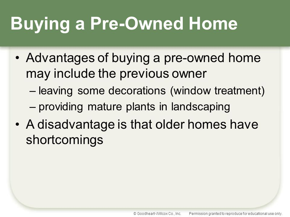 Buying a Pre-Owned Home