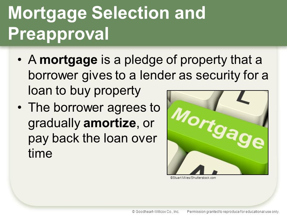 Mortgage Selection and Preapproval