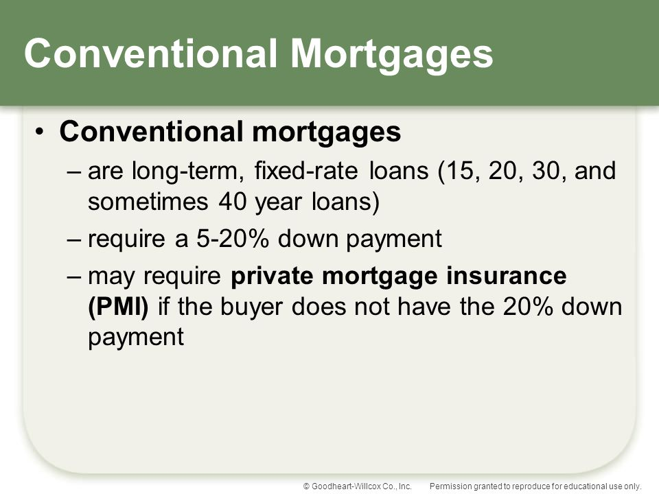 Conventional Mortgages