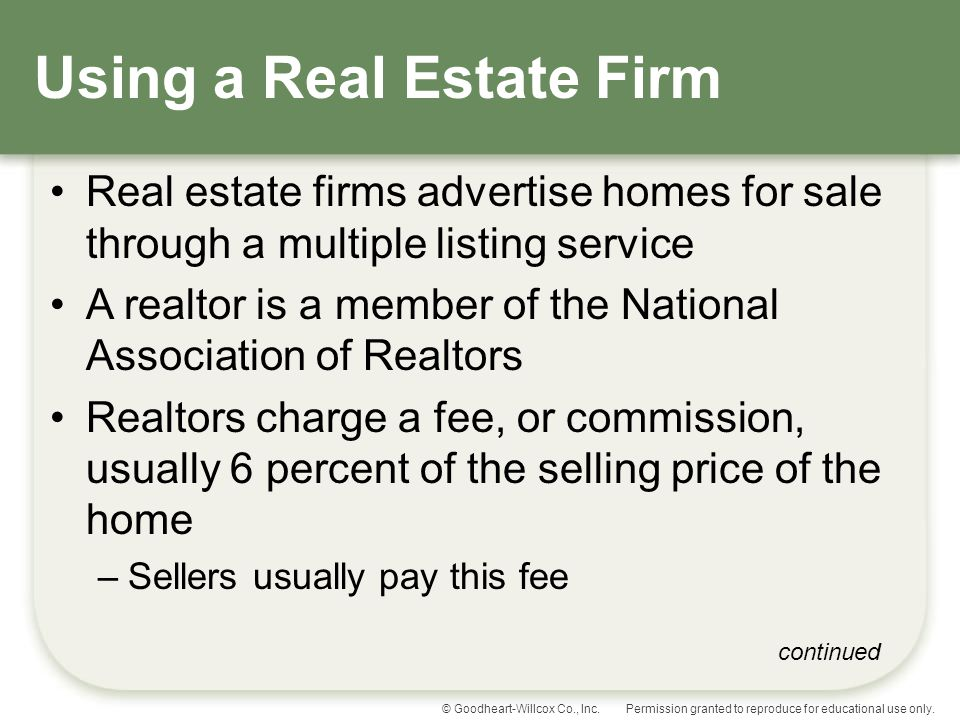 Using a Real Estate Firm