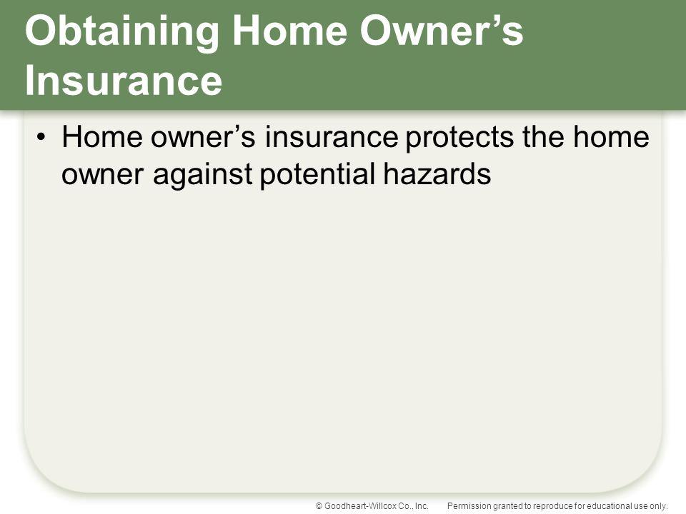 Obtaining Home Owner's Insurance