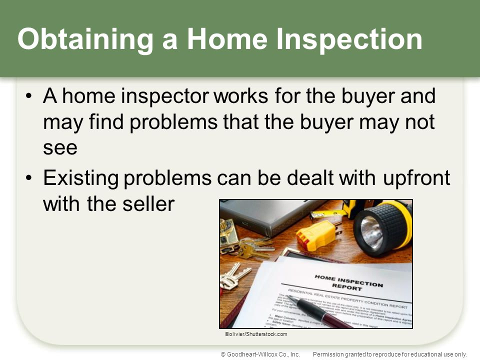 Obtaining a Home Inspection