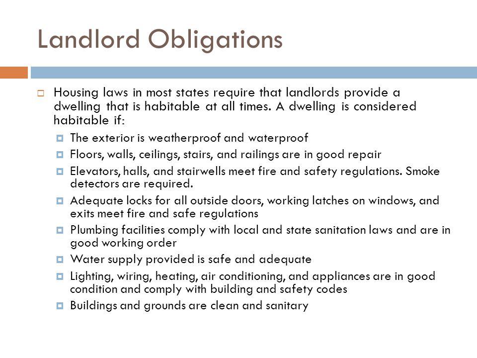Landlord Obligations