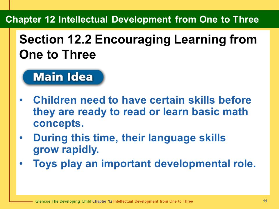 Section 12.2 Encouraging Learning from One to Three
