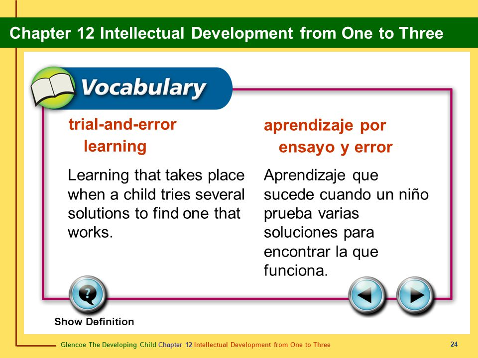 trial-and-error learning aprendizaje por ensayo y error